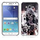FUBAODA Funda Samsung Galaxy J7 Serie de la Pintura,[póker] Resistente a los arañazos en su Parte Trasera,Funda Protectora Anti-Golpes para Samsung Galaxy J7(J700F J700H)