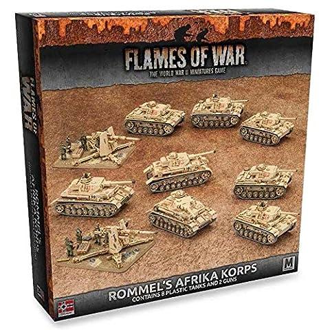 Flames of War German Rommel's Afrika Korps (Mid War, 10 figures, GEAB14)