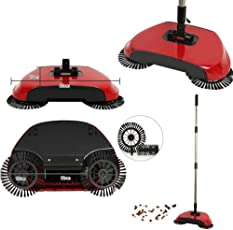 Gooseberry 360 Degree Rotating Brush Spin Hand Push Broom Sweeper Dust Floor Surface Cleaning Mop for Home Office