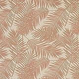 Fabulous Fabrics Dekostoff Halbpanama Palme 3 – Altrosa