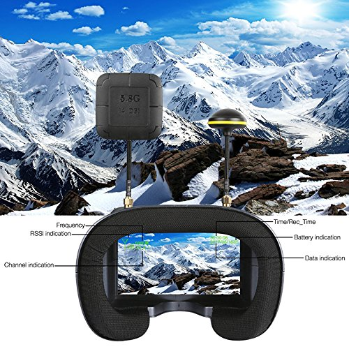Wpond 5.8G 40CH 4.3 Pulgadas 2000mA Batería incorporada