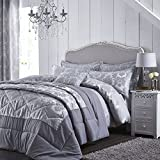 Catherine Lansfield Damask Jacquard Bedspread, Silver
