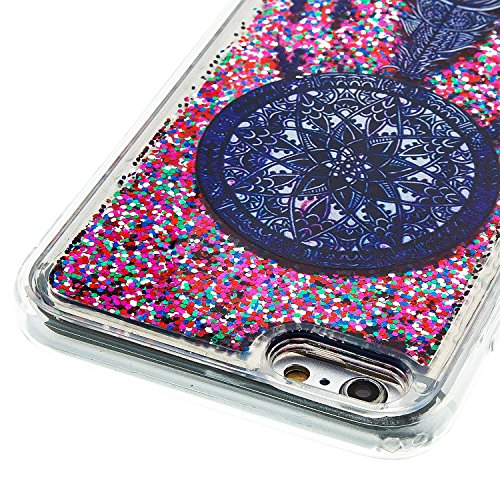 For iPhone 6 PLUS 5.5[CUTE SPARKLING]Novelty Creative Liquid Glitter Design Liquid Quicksand Bling Adorable Flowing Floating Moving Shine Glitter Case -GOLD EIFFEL PURPLE DREAM CATCHER