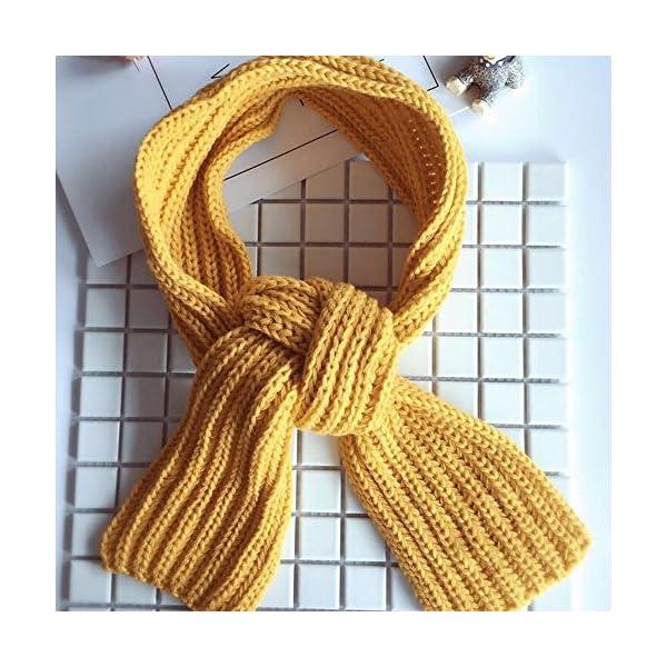 KINDOYO Bufanda de los niños, precioso otoño invierno chicos niñas bebé niño bufanda sólida caliente bufandas de punto… 2