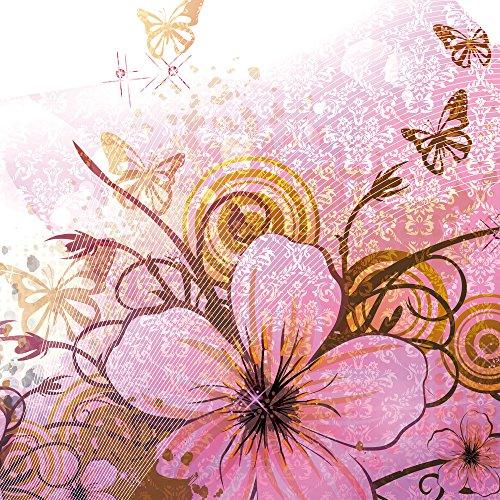 Apple iPhone 4 Housse Étui Silicone Coque Protection Papillon Fleur Fleur Sideflip Sac