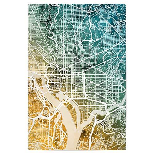 artboxONE Poster 60x40 cm Städte Washington DC City Map - Bild Street map City map Road map