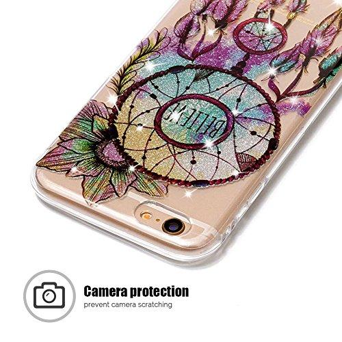 Coque iPhone 6 Plus / 6S Plus, SpiritSun Clair Transparente Etui Coque en Silicone pour iPhone 6 Plus / 6S Plus (5.5 pouces) Flexible TPU Housse Etui Souple Silicone Etui Coque de Protection Mince Lég Attrape Rêves