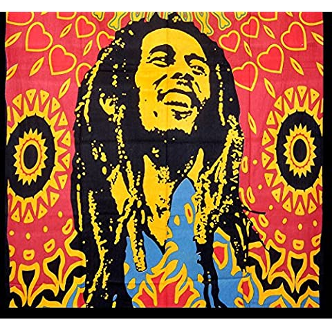 Handicrunch Bob Marley Tapestry, Indian Hippi Wall Hangings, Beach Blanket,Wall Decorator