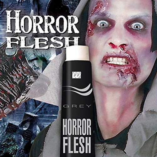 Alte Haut Schminke Graue Runzelhaut grau Flüssiglatex Make Up Halloween Effekte Grusel Theaterschminke Horror Gesicht Flüssiges Latex (Up Make Alter)