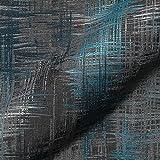 Stoff Polsterstoff Möbelstoff Bezugsstoff Meterware für Stühle, Eckbänke, etc. - Varese Blau Abstrakt - MUSTER