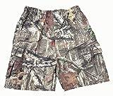 unbranded Mens Casual Jungle Camo Multi Pocket Cargo Shorts Mens New Size 3XL 4XL 5XL 6XL (3XL 43-49 Inch Waist)