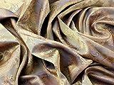 Paisley Weave Jacquard Futter Stoff 2Antik Gold–Meterware + Craft Guide