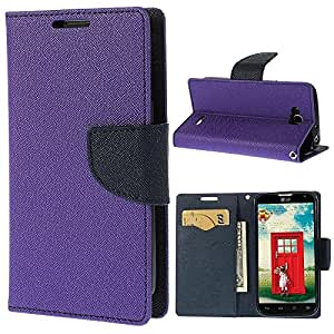 Relax&Shop Luxury Wallet Style Flip Cover For Xiaomi Redmi Note 4G- Purple
