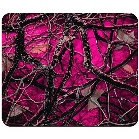 Back Woods Red Camouflage Mouse Pad from
