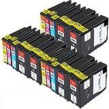 Win-Tinten Kompatibel Tintenpatronen HP 932XL 933XL für HP Officejet 6100 6600 6700 7110 7610 7612 Drucker (6 Schwarz+ 3 Cyan+ 3 Magenta+3 Gelb)