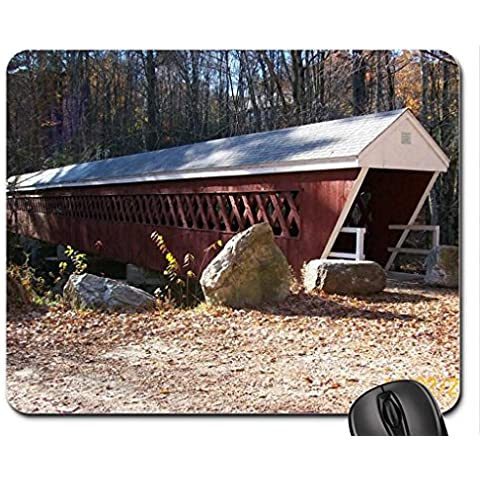 New Hampshire Autumn. Mouse Pad, tappetino per Mouse, ponti Mouse Pad)