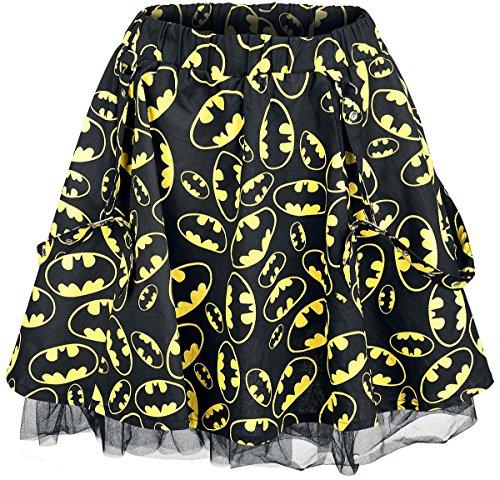 Batman Logo - Allover Gonna nero/giallo XL