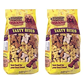Kerhoot Dog Mixer Biscuits | Tasty Bites Bikkies Treats Snacks 1200g | Training Aid Dog Food | PLUS Guide To Happy & Healthy Dogs Booklet. 61dx4OuirYL