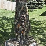 Halloween Baumgeist mit LED Augen Baumdeko Gartendeko Horror Deko Palandi®