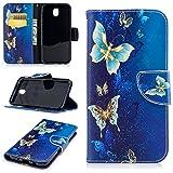Samsung Galaxy J7 2017 / J730 Hülle Leder mit Muster, Lomogo Schutzhülle Brieftasche mit Kartenfach Klappbar Magnetverschluss Stoßfest Kratzfest Handyhülle Case für Samsung Galaxy J7 (2017) - BIFE23725 #7