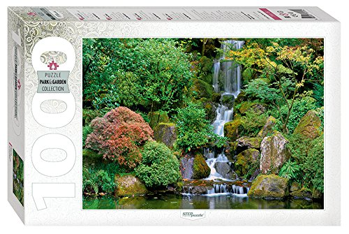 Puzzle 1000 Teile - Waterfall in Portland Japanese Garden - Portland Japanese Garden