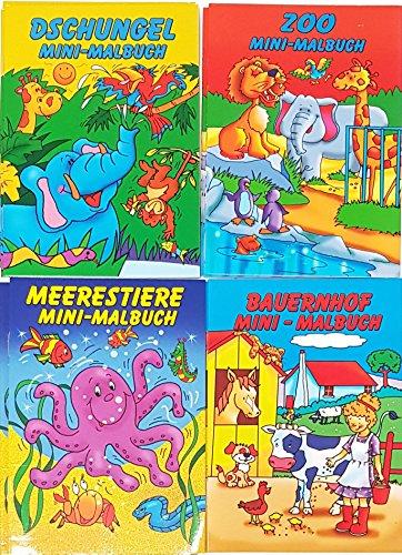 10 Malbücher mini Malbuch DIN B6 (17,6 x 12,5 cm) Mitgebsel Kinderparty Hochzeit Geschenk...
