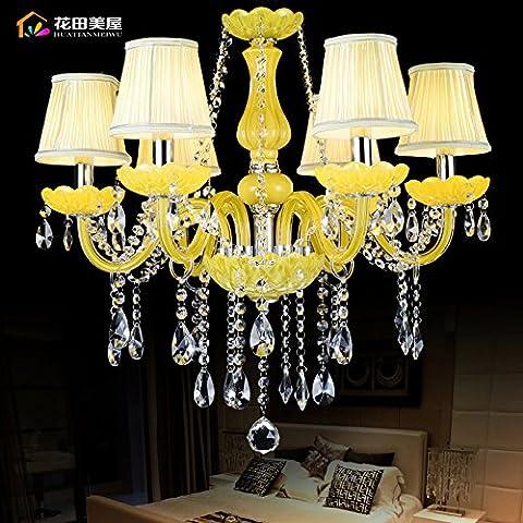 Ancernow caldo retrò creativo E27 Edison lampade a sospensione Vetro cristallo Lampadari per soggiorno, camera da letto, camera bambini, bar, café, ristorante,Rr2408#,Testa 6