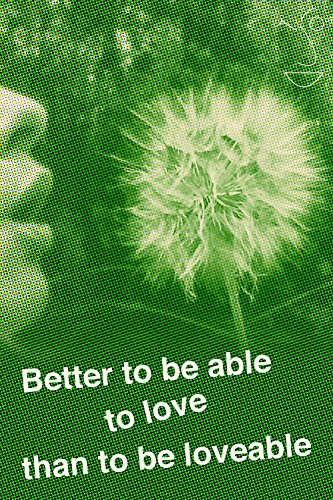 Better to be able to love than to be loveable (English Edition) Crystal Rim