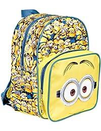 Mochila para niño de Mi Villano Favorito - Bolso Escolar Amarillo con Bolsillo Frontal de Los Minions - Bolsa para la…
