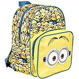 Kinder Rucksack für Jungen Ich Einfach unverbesserlich - Schulranzen mit Minions - Schulrucksack für Schule und Kindergarten mit verstellbaren Schulterriemen - Gelb - Perletti 31x24x12 cm
