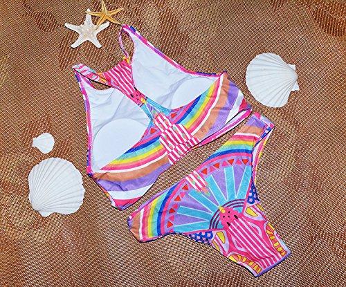 Sitengle Damen Bikini Sets Multicolour Push up Paisley Bademode Badeanzug Bathing Suit Ethnischen Tauchanzug hot Bikini Rosa
