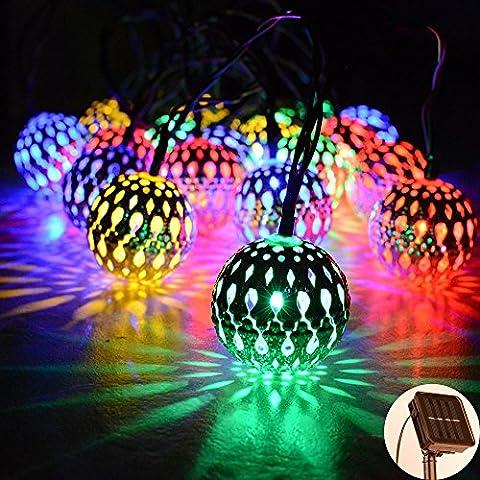 Lampe Solaire Extérieure,Kondisco 20 LED Lumière Extérieure en Forme de
