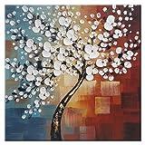 Wieco Art UK-FL1089-6060 Morning Glory Ölgemälde, 100% handgemalt, moderne abstrakte Kunst, auf Leinwand, Blumen-Motiv, für Heim-Dekorationen