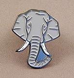 Metal Enamel Pin Badge Elephant (Trunk & Ivory Tusks) Dumbo Jumbo Bump