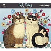 BJdesign 2019 Wysocki Cat Tales Amcal 2019 Wall Calendar, Wysocki by ACCO Brands