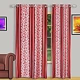 Dreaming Cotton Door Curtain 7ft Maroon