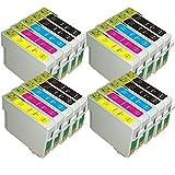 AA+inks 20x Kompatible Druckerpatrone 8x T0711 4x T0712/3/4 als Ersatz für Epson Stylus S21 SX100 SX105 SX110 SX115 SX200 SX205 SX210 SX215 SX400 SX405 SX410 SX415 SX510W SX515W SX600FW SX610FW Mit Chip - 20PK