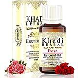 khadi herbal 100% Pure Rose Essential oil For Anti-Aging, Acne, Dry Skin, Wrinkles Undiluted Essential Oil