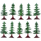 Asian Hobby Crafts Artificial Min Christmas Tree with Glitter (10 Pieces)