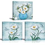 """Tku's Canvas Wall Art for Kitchen Living Room Bedroom Bathroom, Home Decor Paintings Pictures (Ready to Hang) 12""""x12""""x 3pcs ("""