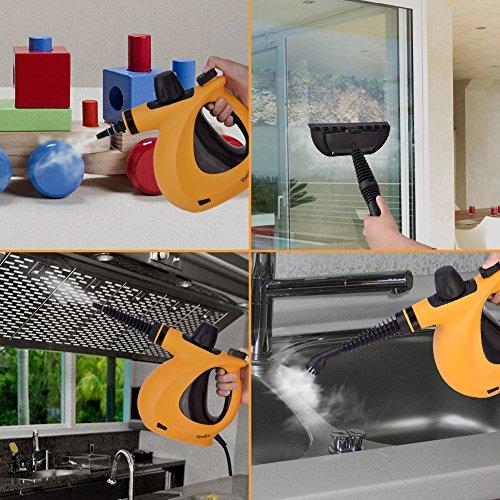dampfreiniger ymiko handdampfreiniger inkl 9 teiligem. Black Bedroom Furniture Sets. Home Design Ideas