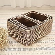 xmz–Caja de almacenaje (exterior/interior muebles de jardín (ratán, de las cajas de almacenamiento de baúles de almacenamiento 24.5* 13.5* 14cm