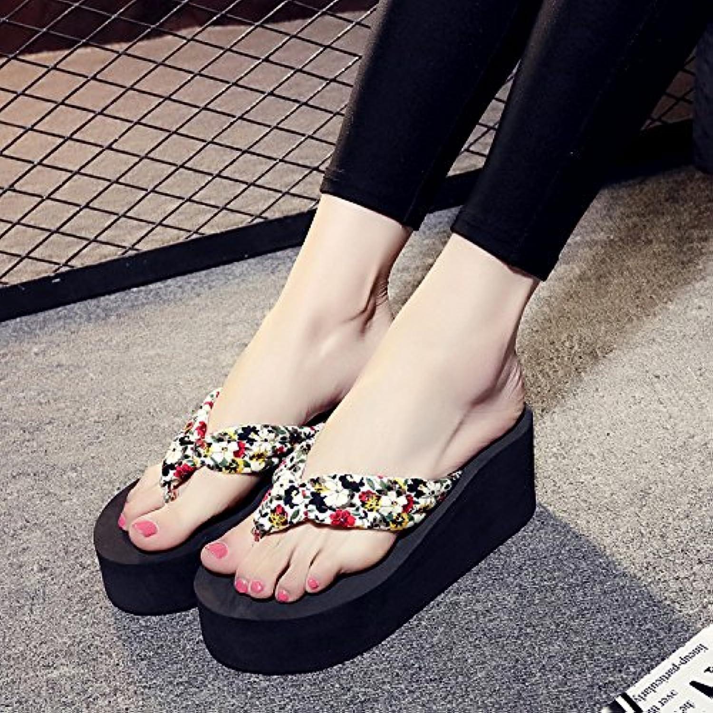 Flip Flops zapatillas mujeres, grandes patios, inferior grueso, antideslizante y resistente a la abrasión calzado...
