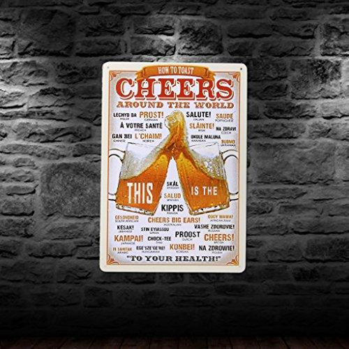 Poster M/étallique Affiche Signe Art Plaque en M/étal D/écoration Bar Maison Caf/é #2