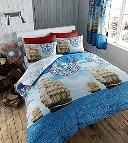 SAIL BOAT Modern Range Duvet / Quilt Cover & Pillowcases
