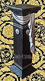 Medusa Säule Mäander Style Dekosäule 100cm Griechische Säulen Barock Podest 1041 k-2+28 Kunstharz ( ALLWETTER FEST )