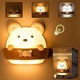 Led-nachtlampje voor kinderen, nachtlampje voor kinderen, bedlampje baby, draagbaar via USB, geel licht voor lezen, slapen en