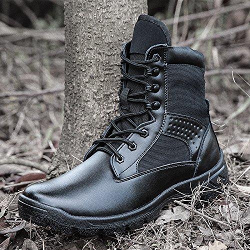 WZG Männer-Armee Fans im Freien Kampfstiefel Schuhe high-top schwarz Kommando Feld Stiefel Desert Boots taktische Aufladungen männlichen Militärschuhe Black