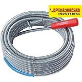 Rothenberger Industrial 072986E Afvoerreiniger spiraal met lange ophangkop, grijs