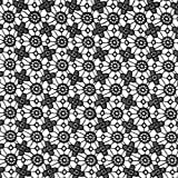 Fabulous Fabrics Tessuto in Pizzo, Rete di Fiorellini – Nero — Vendita al Metro da 0,5m — per Cucire Moda da Sera e da Party